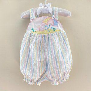 Vintage Baby Togs Pastel Beach Romper 6-9 Months